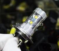 2 pcs  H7 Cree 10 LED 50W Lamp car Fog Head Bulb auto Vehicles parking Turn Signal Reverse Tail Daytime Running Lights White