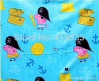 free shipping Factory direct  1PCS/LOT Pink pig sister double-sided velvet blanket Children blanket. best gift