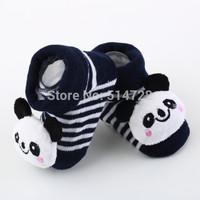 1pcs 2014 New Cartoon Baby Anti-slip Socks Newborn Unisex Slipper Shoes Boots 0-6 Month Free Shipping