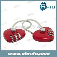 (30 pieces/lot) lovely heart shape digital padlock
