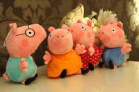 TOP SALE Anime Baby Toys 1pcs 18CM Pepa Pig plush Peppa Pig Family Stuffed Plush Doll Peppa Pig Toys free shipping high quality