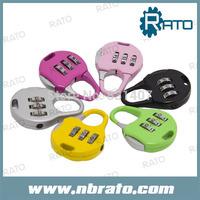 (50 pieces/lot) hotsale round shape cartoon 3-digital lock