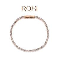 Wholesale ROXI Brand Fashion Accessorie Jewelry Full CZ Diamond Austria Crystal with SWA Element  Single Line Bracelet for Women