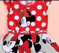 Free shipping new girls clothes cute children Minnie Mouse dress 100% cotton baby girls dress cartoon retail