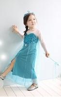 New 2014 Girl Frozen Elsa Princess Dress,Kids girl Cosplay dress,kids cosplay costume,girl party dress,Elsa dress From Frozen