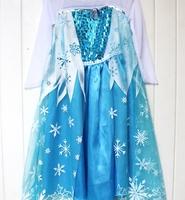 1 Piece 2014 Anime Movie Frozen Queen Girls Deluxe Elsa Snow Queen Fancy Dress Costume Princess Child Toddler Pixar Movie