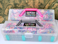 Rubber loom band kits including ( 1800 pcs bands + 3 pcs hook +3 loom + 72 clips ) complete 1pcs /lot free shipping