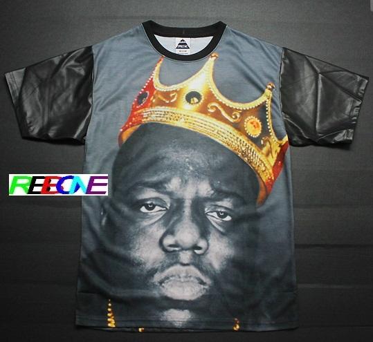 Biggie t shirt Tupac Suge Knight Makaveli t shirt 2pac Amaru swagShakur The Notorious Teen B.I.G., Biggie T shirt Smalls,(China (Mainland))