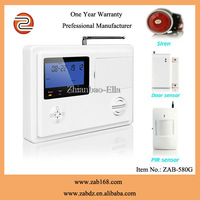 ZAB-580G,Latest ,High quality,99wireless defensive areas,GSM+PSTN, home alarm system
