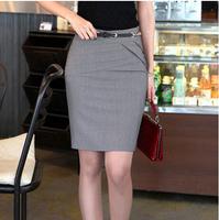 2014 New Plus Size Women Work Wear Short Overall Bust Skirts Slim Hip Pencil Skirt Overalls For Women S~XXXL