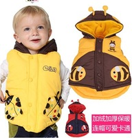 SV-003  Free Shipping Hot Selling 3Pcs/Lot 3Colors Kids' Vest Boy Vest Girl Vest Children Outwear Girls' Waistcoat Kids Bee Vest
