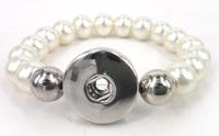 Free shipping new arrive beige pearl beads Bracelet Fashion pearl metal button Bracelet