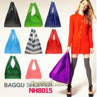 Candy Colors Japan BAGGU Square Pocket Shopping Bag Eco-friendly Reusable Folding Handle Bags DHL Free 200pcs/lot Drop Ship