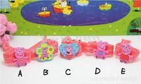 free shipping Factory direct  100PCS/LOT Pepe pig series orange wristbands Children's lovely bracelet. best gift