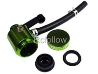 Motorcycle Universal Brake Fluid Green Reservoir Fit For CBR600 900 1000RR VFR