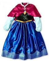 2014 FROZEN Anna girls dress + shawl Frozen anna frozen dress kids vestido frozen vestidos de festa para menina