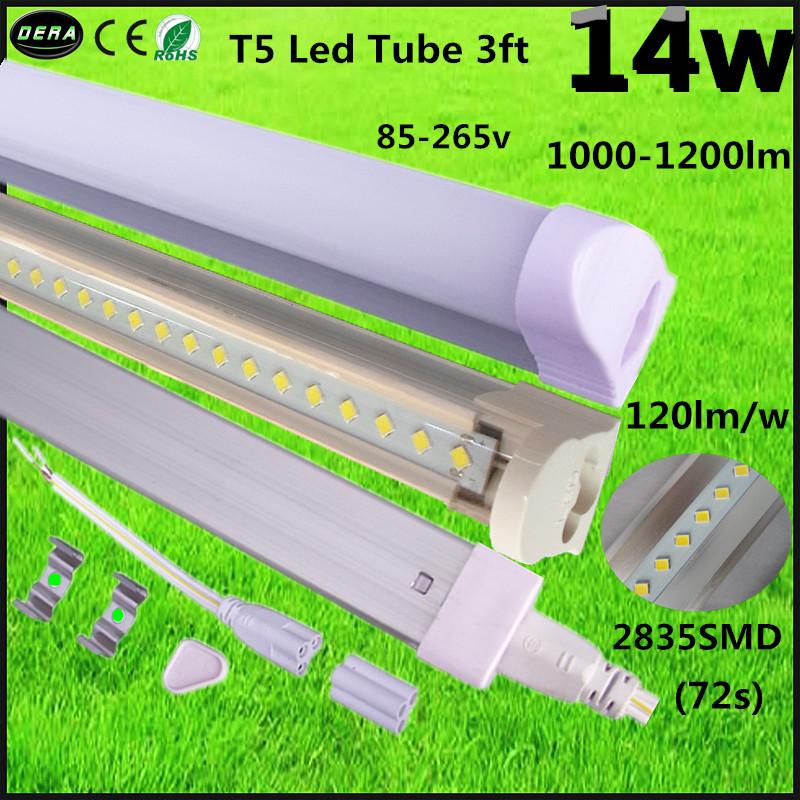 Free shipping 100pcs 0.9m/90cm/900mm led tube t5 lamp14w led fluorescent tube light 2835smd 85-265v led tube 3ft high brightness(China (Mainland))