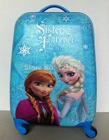 Frozen Luggage Children trolley suitcase 16 inch Frozen Rolling Luggage Spinner Suitcase