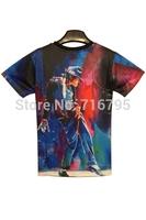 New 2014 Fashion Women /  Man Stylish Michael Jackson Tee New Novelty  T Shirt Size XXL,Free Shipping