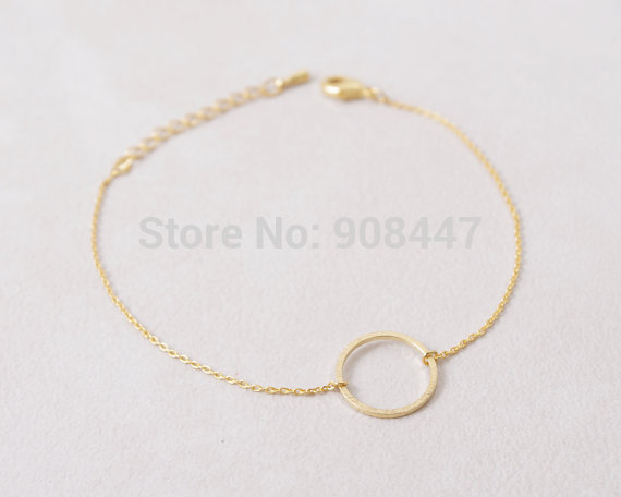 1 Piece-B7 Mix Fashion hot sell Gold Silver Open Circle Bracelet,round Bracelet Girl Jewelry -Free shipping over $10(China (Mainland))