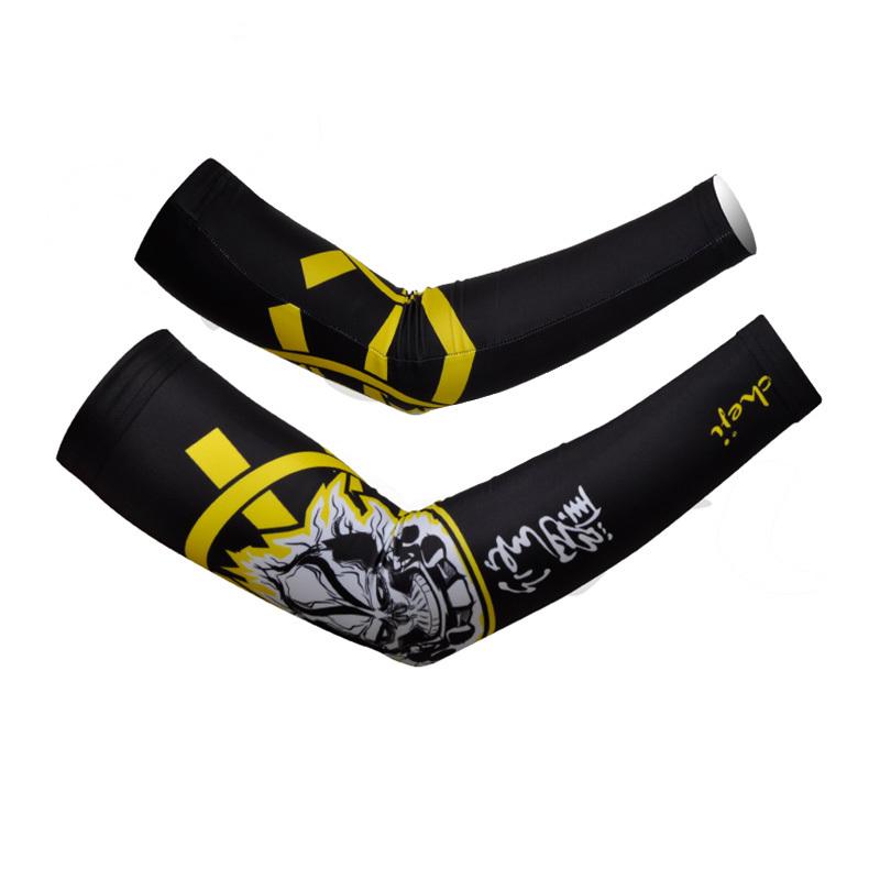 Shura black and yellow Chiji Men Arm Warmers Cycling Men cuff Cycling arm sleeve CYAR9824(China (Mainland))