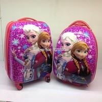 Frozen Suitcase Children travel trolley bag frozen 16 inch hardside luggage with 4 wheels frozen bags