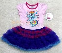 free shipping  girls my little pony princess dresses,children's short-sleeve dresses
