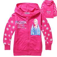 Frozen girls cardigan jacket coat Children Hoodies for 2-7ages Frozen Children Hoody moleton infantil