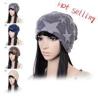 2014 Korea Style Women Fashion Beanies Hat,Jersey Sports Hat,Women Baggy Beanies Hat with Star