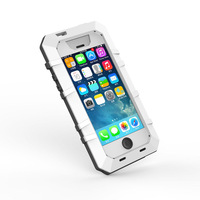 for iPhone 5 5s EXTREME Aluminum Metal Gorilla Glass Waterproof Dropproof Dirtproof Case Cover for iPhone 5 5S Retail Packaging