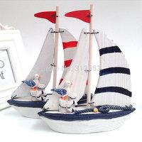 Mediterranean Style Mini Ship marine furnishing decorative ornaments decoration Nautical Decor  Sailing Ship-Free shipping