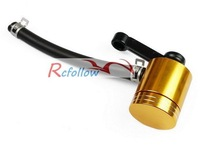 Gold Universal Brake Fluid Reservoir Fit For Yamaha YZF R1 R6 FZ1 FZ6 R6S V-Max