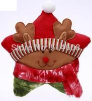 CD014 export grade colored cotton 28cm width star shape Santa Claus Deer cushion sofa pillow