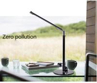 LED Desk Lamp Table Lighting Toughened Glass Base USB/AC 110V-220V Power