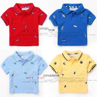 baby boys Summer Infant T-Shirt  Cartoon short-sleeved shirt  Girls T-shirt embroidery  T-shirt lapel fashion wild child