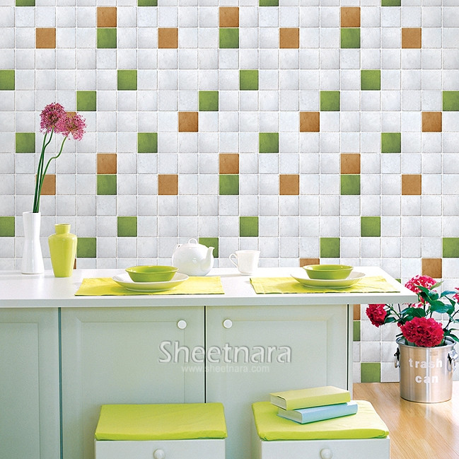 Baldosas Baño Vinilo:Waterproof Self Adhesive Vinyl Wall Covering