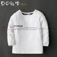 baby t-shirt children's clothing baby 100% cotton white t-shirt baby girl Wild shirt  Autumn Simple Bottoming shirt 0-9-24Month