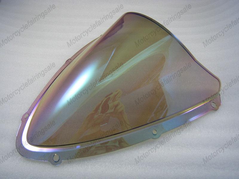 2008 2009 08 09 pour suzuki gsxr 600/750 k8 double bulle pare brise/pare brise- iridium, de couleur magique