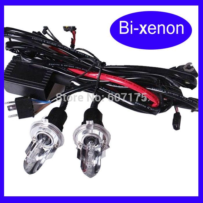 wholesales 12V 35W AC Car Auto hid bulb H4-3 Bi Xenon h4 Hi Lo Beam Light h4-3/h13-3 9007 9004 free shipping(China (Mainland))