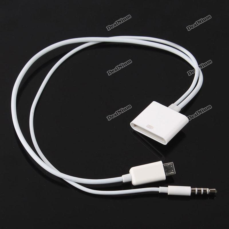 Fancy-beststore-30P-Female-Dock-to-Micro-USB-3-5mm-5P-Male-Audio