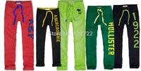 Best quality, wholesale new 2014 fashion design men's pants, brand 100% cotton men outdoor leisure sports pants trousers