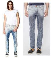 2014/7/4 Best Men's Clothing Men's Jeans GC012-2 Mid-Rise Fashion Solid Straight Jeans Men