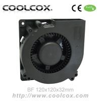 CoolCox 120x120x32mm DC Blower fan, BF12032H12D,12V,1.2A 2-Ball bearing,12032 DC blower fan,2-wire,2pin connector,3pcs/lot