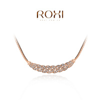 ROXI brand fashion rose gold plated luxury necklaces for women, Fashion gold Jewelry,2030001630B