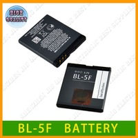 HK post Free shipping 2100mAh BL-5F / BL 5F Battery Use for Nokia 6290 E65 N93i 6210 N96 6210S 6710N N95 Without retial package