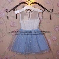 New2014girls cartoon snowflake lace organza chiffon ballgown layered Princess Dress kids party dress,WLC-014 free shipping