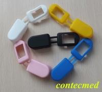 Oximetro de dedoNew CONTEC Soft Rubber Cover for fingertip pulse oximeter CMS50DL,CMS50D,CMS50D+