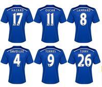2014-15 New Chelsea home team soccer football jerseys t shirt sportswear equipment Thailand quality