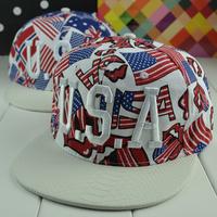 2014 Adjustable Embroidery USA hats Hip Hop Sport Snapback Baseball basketball caps men & women's designer Freeshipping M92