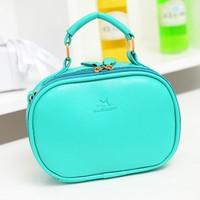 2014 new Korean style solid cute little Oval portable woman message bag shoulder bag handbag 8colors f